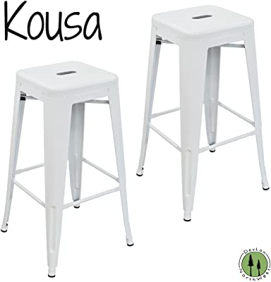 Sensational Amazon Com Dhp Fusion Metal Backless 30 Bar Stool With Ibusinesslaw Wood Chair Design Ideas Ibusinesslaworg