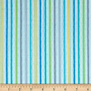Kanvas Studio 0567743 Jungle Jamboree Wavy Stripe Blue Fabric by The Yard
