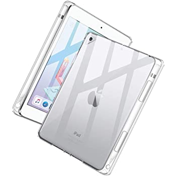 ipad mini 2019 ケース Maxku ipad mini 5 透明カバー ペンシル収納可能 薄型軽量 衝撃吸収 傷つけ防止 背面ケース 保護バンパー ペンホルダー付き 第5世代・2019年発売モデル (クリア)
