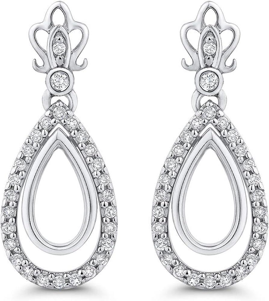 KATARINA Diamond Teardrop Earrings in 10k White Gold (1/5 cttw, G-H, I2-I3)