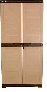 Alfa 2 Plastic Cabinet for Storage | Space Organizer | Shelves | Cupboard | Living Room | Kids | Multipurpose for Home Kit...