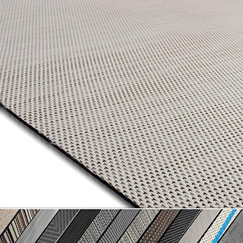 casa pura Design Bodenschutzmatte Palermo in 6 Größen | dekorative Unterlegmatte für Bürostühle oder Sportgeräte (120 x 90 cm)