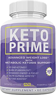 Keto Prime - Advanced Weight Loss with Metobolic Ketosis Support - 60 Capsules - 1 Month Supply