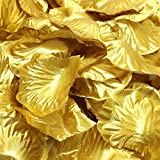 Simple polymer 1000 Pcs Silk Rose Petals Fake Petals for Wedding Decoration Festive Supplies (Gold)