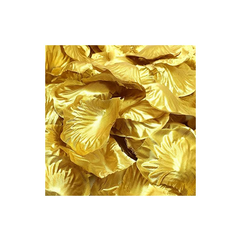 silk flower arrangements simple polymer 1000 pcs silk rose petals fake petals for wedding decoration festive supplies (gold)