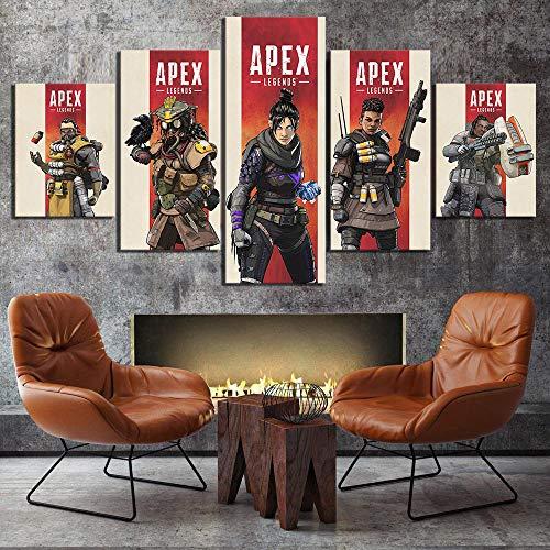 5 Stück Hd Cartoon Bild Print Apex Spiel Poster Bild Gemälde Leinwand Kunst Für Wohnkultur Wandkunst(NO Frame size 2)