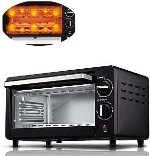 ZBHGF Mini horno Toast Grill eléctrico capacidad 10 litros con bandeja y estante puerta de cristal para carne y verduras templado visible ideal