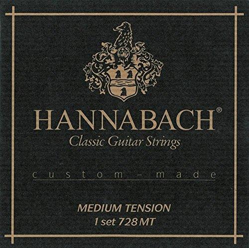 Hannabach Cuerdas para guitarra clásica, Serie 728 Tensión Media Custom Made - juego 3 cuerdas agudas en carbono (Mi1+Si2+Sol3)