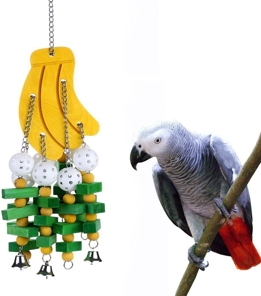 Many popular brands Hypeety Parrot Hanging Swing Colorful Toy Chew Bells Max 69% OFF