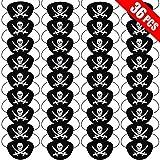UniBetter 36 Piezas de Parche de Ojo de Pirata de Fieltro Negro Cráneo de un Ojo Máscara de Ojo de Capitán del Caribe para Favores de Fiesta de Halloween, Navidad y Niños