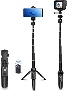 Selfie Stick, 40 inch Extendable Selfie Stick Tripod,Phone Tripod with Wireless Remote Shutter Compatible with iPhone 12 1...