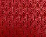 Melody Jane Casa de Muñecas Miniatura Impresión 1:12 Victoriano Rojo en Rojo Arabesco Pintado
