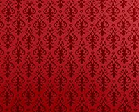 Melody Jane Dolls Houses House Miniature Print 1:12 Victorian Red On Arabesque Wallpaper