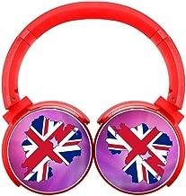 DNpni Flag Map of Northern Ireland Bluetooth Headphones Wireless Deep Bass Headsets On-Ear HiFi Bluetooth Earphones Red