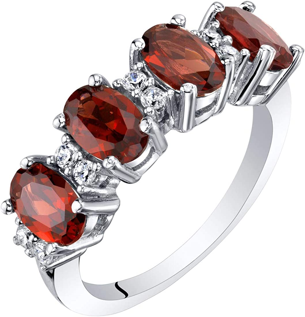 Sterling Silver Oval Cut Max 61% OFF Genuine Gemstone Simulated Max 84% OFF or Created