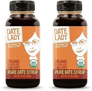 Award Winning Date Lady Organic Date Syrup 12 Ounce Squeeze Bottle | Vegan, Paleo, Gluten-free & Kosher (2-Pack)