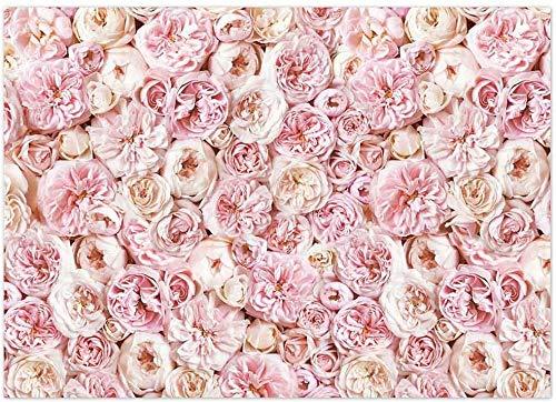 Allenjoy Fondo de flores para fotografía, color rosa rojizo, flores, para novia, baby shower, día de San Valentín, bodas, fiestas de cumpleaños, decoración para fotografía, estudio, 210 x 150 cm