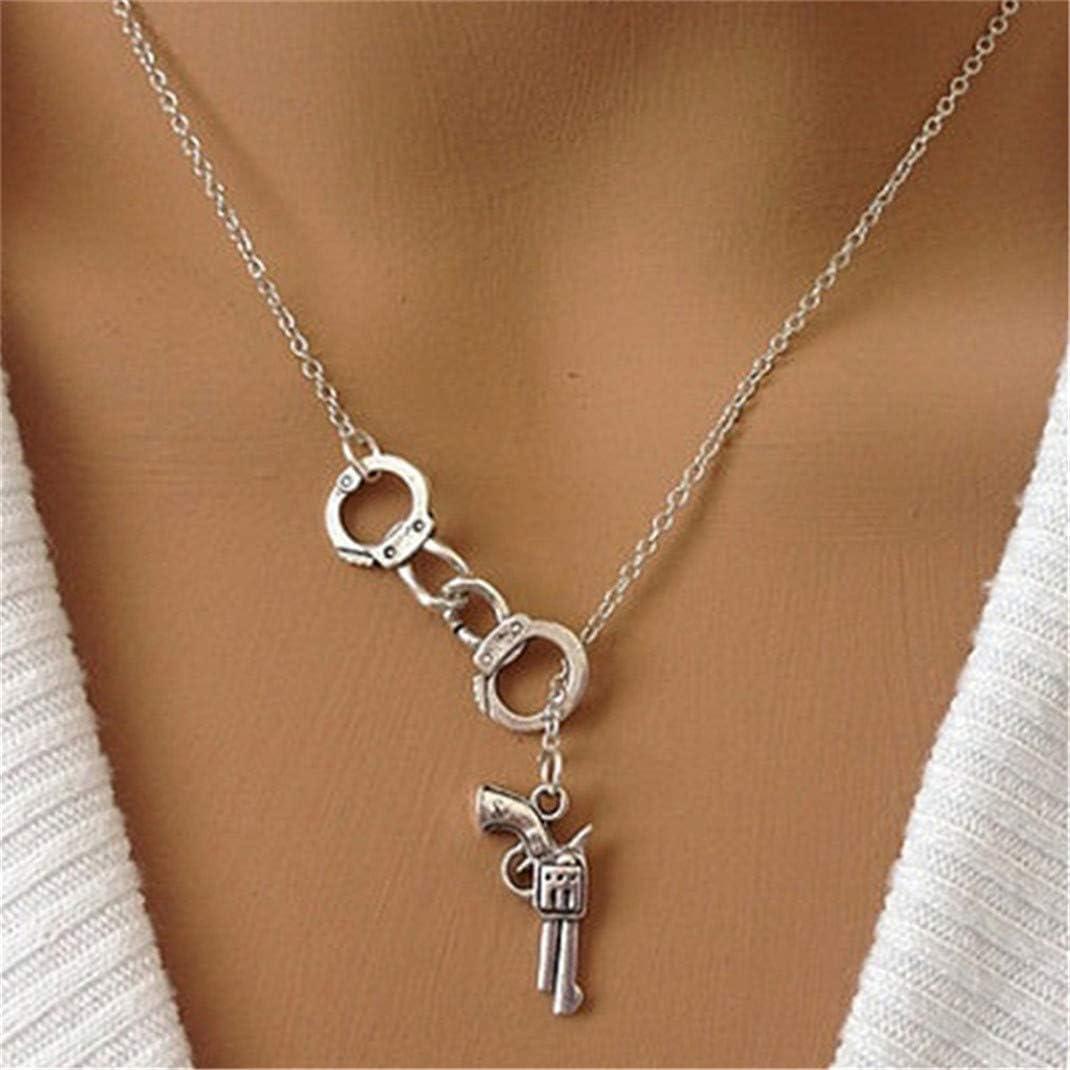 Airlove Handcuffs Y Shaped Necklace Pendant Best Friend Couples Boyfriend Girlfriend Jewelry Gift