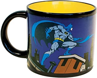 Batman Bat Signal Heat Changing Coffee Mug - DC Comics Officially Licensed - - Add Hot Water and Batman Comes to the Rescue - Comes in a Fun Gift Box