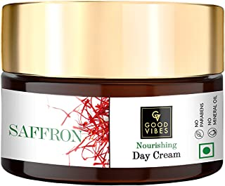 Good Vibes Saffron Nourishing Face Cream, 100 g Deep Moisturization For Radiant Glowing Skin, Helps Reduce Wrinkles & Fine...