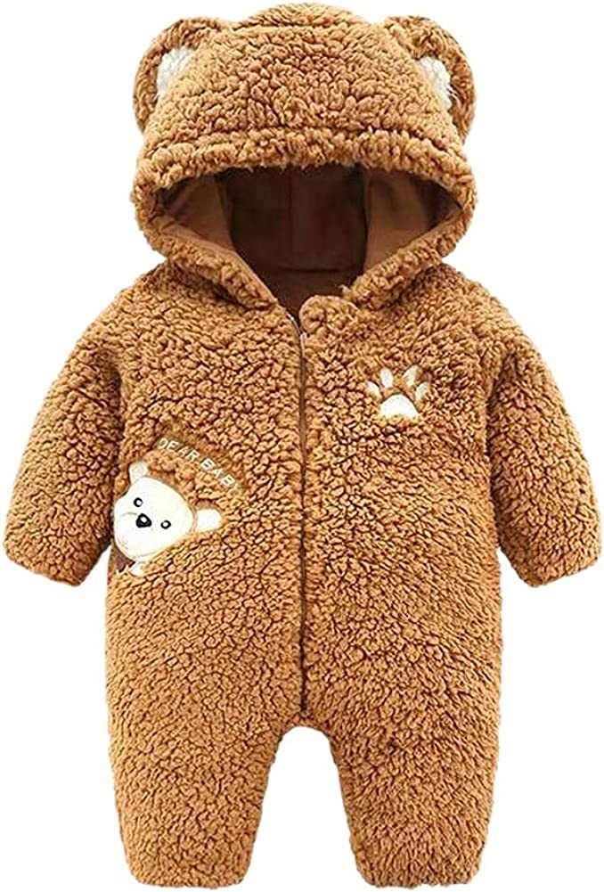 Genda 2Archer Cartoon Bear Fleece Cotton Snowsuit Minneapolis New color Mall Unisex Newborn