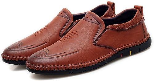 Herren Oxfords Round Toe Flache Ferse Atmungsaktive Lace Up Slip On Business Freizeit Schuhe,Grille Schuhe