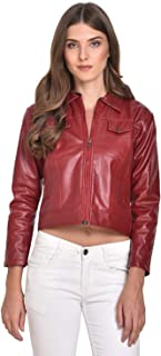 C.Cozami Full Sleeve Solid Leather Women Jacket