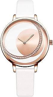 Women Quartz Watch Creative Thin Ladies Wrist Watch for Ladies Watch Female Clock Female Watch,Rose White L