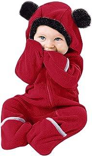 Ropa de Bebe Niña Recien Nacida Cremallera Caricatura Mameluco Abrigo de Niño Niña - Monos Ropa Bebe Niña Otoño Invierno 0-24 Meses