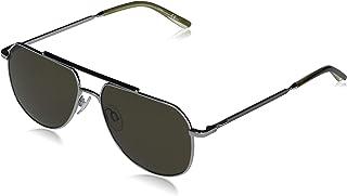 Calvin Klein EYEWEAR CK20132S-014 Gafas, Shiny Light Gunmetal/Dark Tortoise, 57-15-145 para Hombre