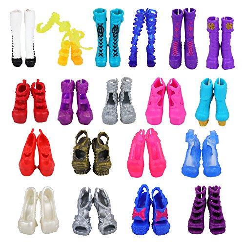 Miunana 10 Pares Zapatos Selección Aleatoria para Monster High Monstruo Alto Muñeca Doll