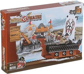 Ausini 27612 Pirate Ship Shaped Building Blocks, 262 Pieces - Multi Color