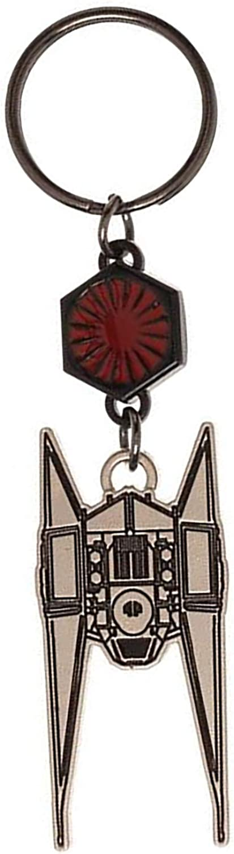 Star Wars Keyring Keychain Tie Fighter Ship Last Jedi Logo Official Metal