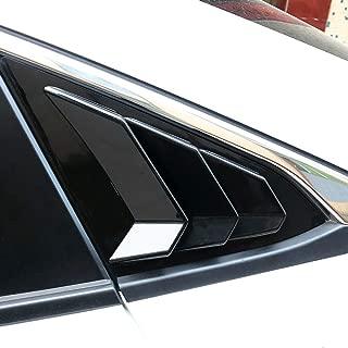 Rear Quarter Side Window Louvers Scoops Spoiler Air Vent Shades Panel for Honda 10TH Civic Sedan 2016 2017 2018 2019 ABS Stickers 3 Vents Style 2 pcs/set Carbon Fiber Color/Black