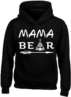Shop4Ever Mama Bear Teepee Hoodie Sweatshirts