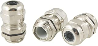YXQ PG7 Cable Gland Joint Stainless Steel Adjustable 3-6.5mm Lock Nut Waterproof Connector 3 Pcs