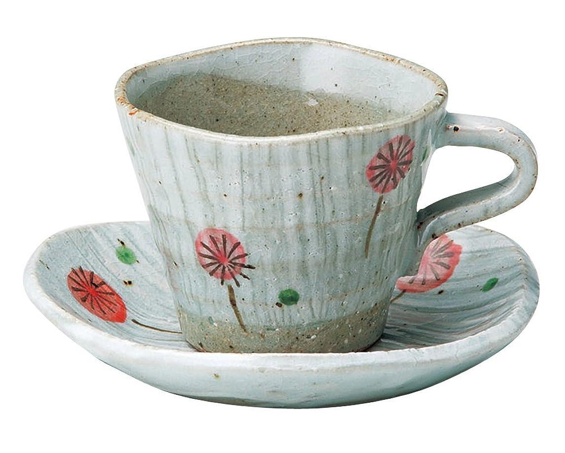 プランテーション病気名前を作る宗峰窯 コーヒーカップ 風船 カップアンドソーサー カップ:φ9×7.3cm(170cc) ソーサー:14×13.5×2.7cm 750-27-463