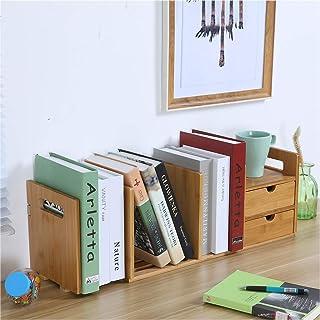 $24 » Sodoop Desktop Organizer, 2-Drawer Natural Bamboo Wood Desk Organizer Storage Bookshelf US Stock, Multifunctional Stationery Storage Box Collection Office Desk Bookcase Organizer