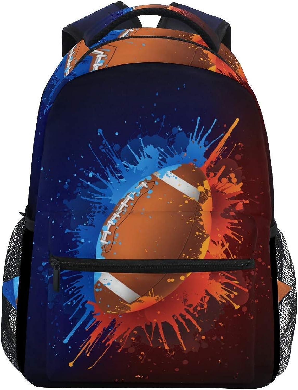 Cartoon Backpack Backpack School Bag Laptop Travel Bags for Kids Boys Girls Women Men Vintage American Basketball Sports