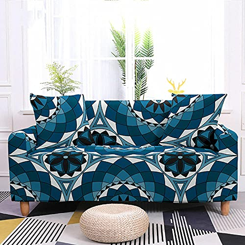 Funda Sofa 1 Plaza Flor Negra Beige Azul Fundas para Sofa Spandex Lavables Desmontables Fundas Sofa Elasticas Ajustables Cubre Sofa Modernas Universal Espesas Funda para Sofa