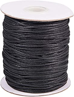 PH PandaHall Elite 1 Roll 1.5Mm Waxed Cotton Cord Thread Beading String 100 Yards Per Roll Spool For Jewelry Making And Ma...