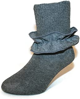 Girls Ankle Bobby Socks With Knit Ruffle Colors