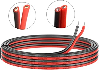 14 Gauge Electrical wire 2 Conductor parallel silicone wire 50ft [Black 25ft Red 25ft] 14 awg 600V flexible Extension cable cord Stranded Tinned copper wire Hookup Model batter cable lead wire
