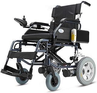 Busirsiz Silla médica de rehabilitación, sillas de ruedas, silla de ruedas eléctrica, ligera inteligente plegable artículo lleva cuatro rondas sillas de ruedas eléctricas, ancianos y discapacitados vi
