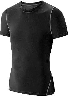 Kids Boy's Compression Shirts Child's Quick Dry Sports...