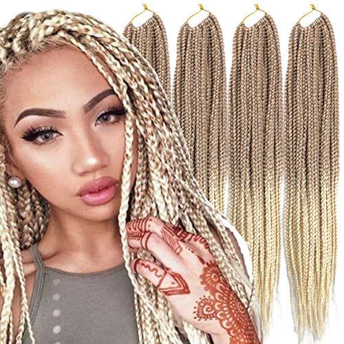 6 Packs/Lot (14/18/24/30) inch 1cm 20 Strands/Pack Thin 3X Box Braid Crochet Hair Extensionin Diameter 3X Synthetic Braid Hair Extensions Crochet Braids Hair Color(30Inch T27/613)