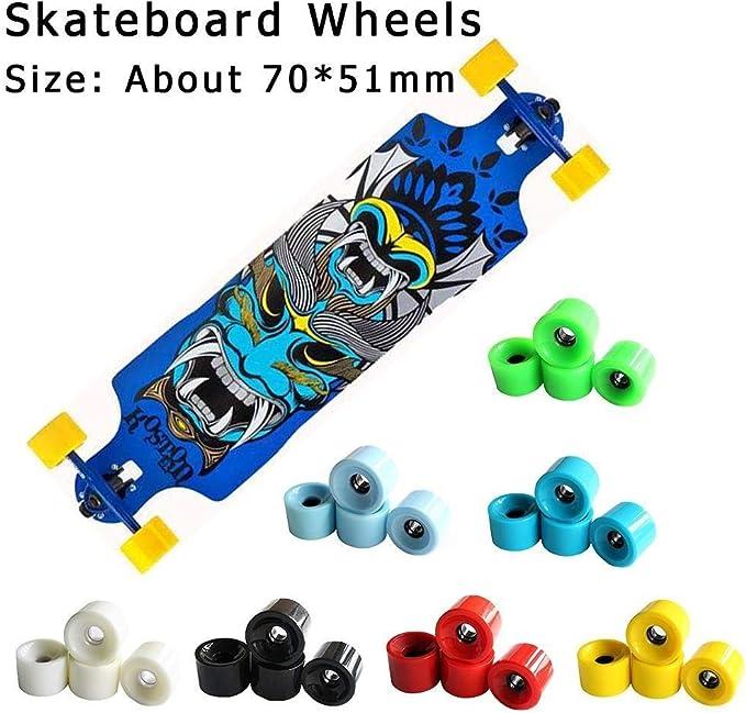 4Pcs Skateboard Wheels Durable PU Skate Wheels Longboard Cruiser Flash WheeRSZ8