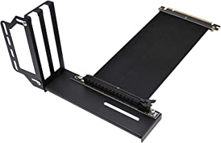 EZDIY-FAB Vertical Graphics Card Holder Bracket,GPU Mount ,Video Card VGA Support Kit with Riser Cable V2