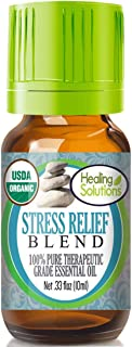 Organic Stress Relief Blend Essential Oil (100% Pure – USDA Certified Organic) Best..
