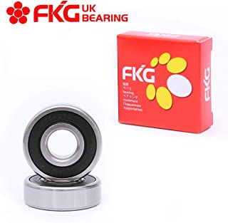 FKG 6303-2RS 17x47x14mm Deep Groove Ball Bearing Double Rubber Seal Bearings Pre-Lubricated 2 Pcs